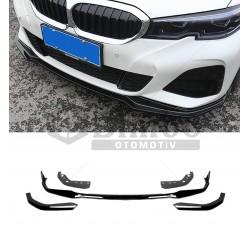 BMW 3 SERİSİ G20 M-TECH PİANO BLACK PARLAK SİYAH ÖN LİP